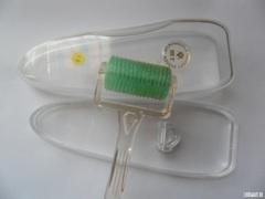 Мезороллер широкий 360 титановых позолоченных игл для тела и для волос