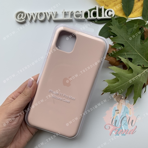 Чехол iPhone 11 Pro Silicone Case /pink sand/ розовый песок original quality
