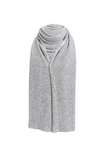 Женский шарф цвета серый меланж из 100% кашемира - фото 1