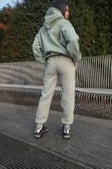Фисташковый спортивный костюм на флисе оптом