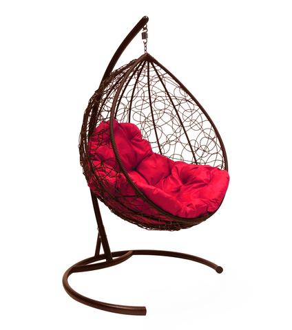 Кресло подвесное Lagos brown/crimson