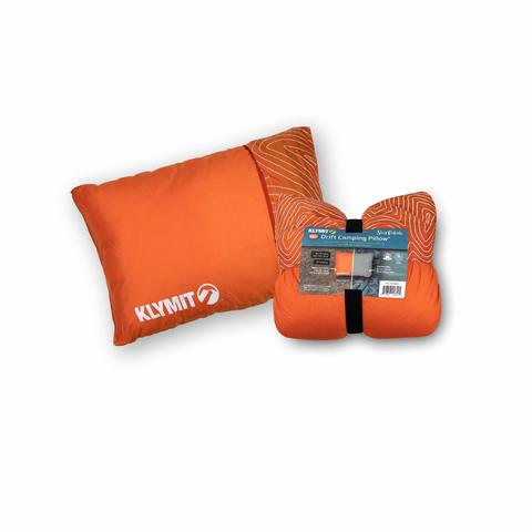 Надувная подушка Klymit Drift Camp Pillow Regular, 58x41x17 см, оранжевая