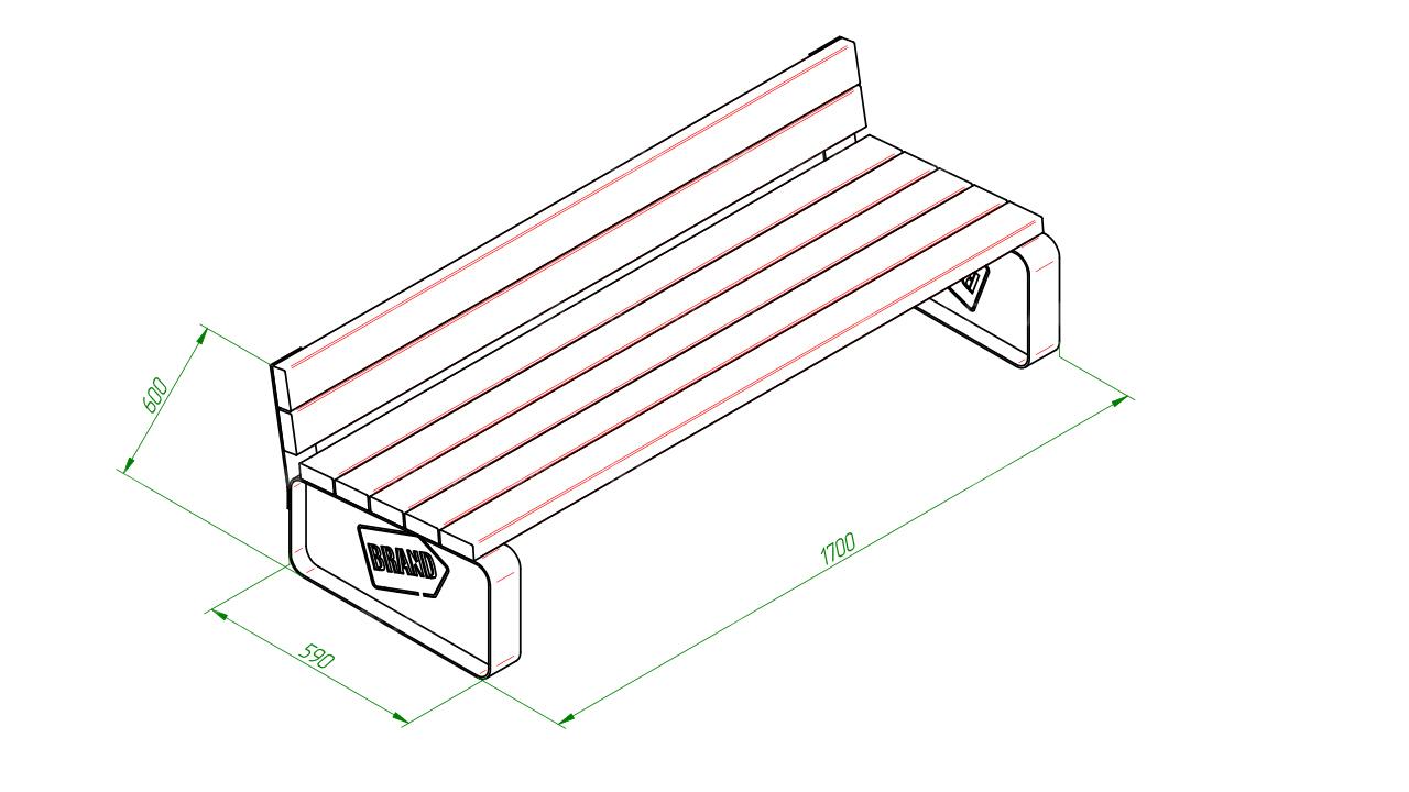Скамейка диван SCAM0082