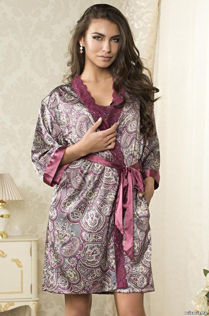 Шелковые халаты Халат женский  MIA-AMORE  Adel   Адель   9403 9403.jpg