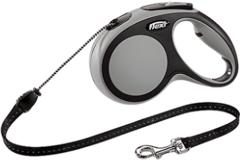 Поводок-рулетка Flexi New Comfort М (до 20 кг) трос 5 м черный/серый