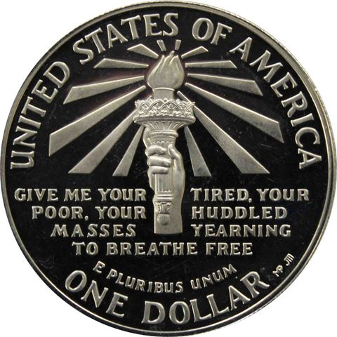 "1 доллар США 1986 год S ""100 лет Статуе Свободы"""