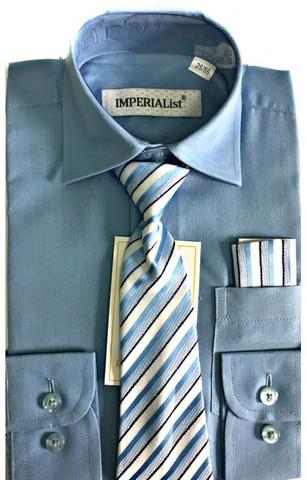 Нарядный комплект для мальчика: рубашка, галстук, платочек.