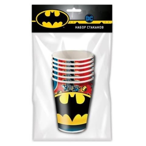 Набор бумажных стаканов Бэтмен 250мл 6шт