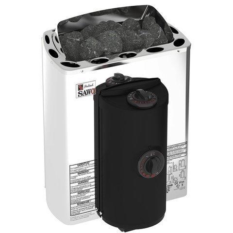 Электрическая печь SAWO MINI X MX-23NB-Z (2,3 кВт, встроенный пульт, внутри оцинковка, снаружи нержавейка)