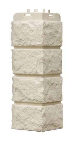 Наружные углы к фасадным панелям GRAND LINE Колотый камень Стандарт молочный