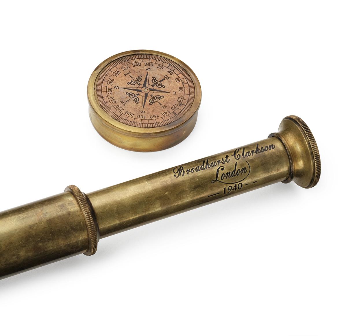 Сувенирная подзорная труба Scout London  в кожаном футляре