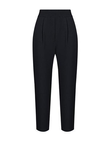 Женские брюки черного цвета из шерсти и кашемира - фото 2