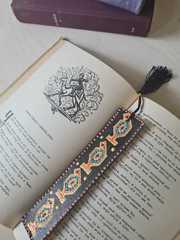 Dəri əlfəcin \  Кожаная закладка \ Leather bookmark (qara)