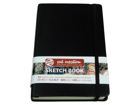 Скетчбук для смешанных техник Art Creation 160г/кв.м 12х12 см 80л твердая обложка черный