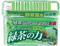 Дезодорант-поглотитель запаха, Kokubo, для холодильника, овощей, зеленый чай, 150 г