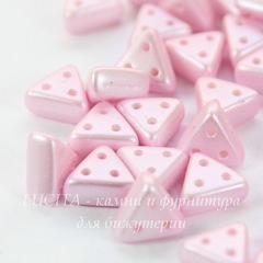 Бусина Emma Треугольник с 3 отверстиями, 6х3 мм, перламутрово-нежно-розовая