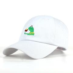 Кепка с лягушкой белая (Бейсболка с лягушкой белая)