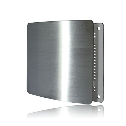 Решетка на магнитах Родфер РД-200 Нержавейка матовая с декоративной панелью 200х200 мм