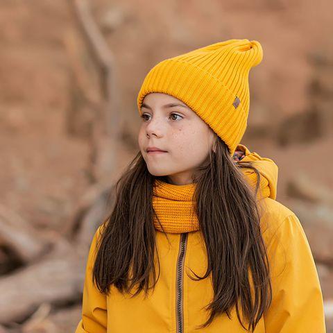 Beanie hat for teens - Mustard