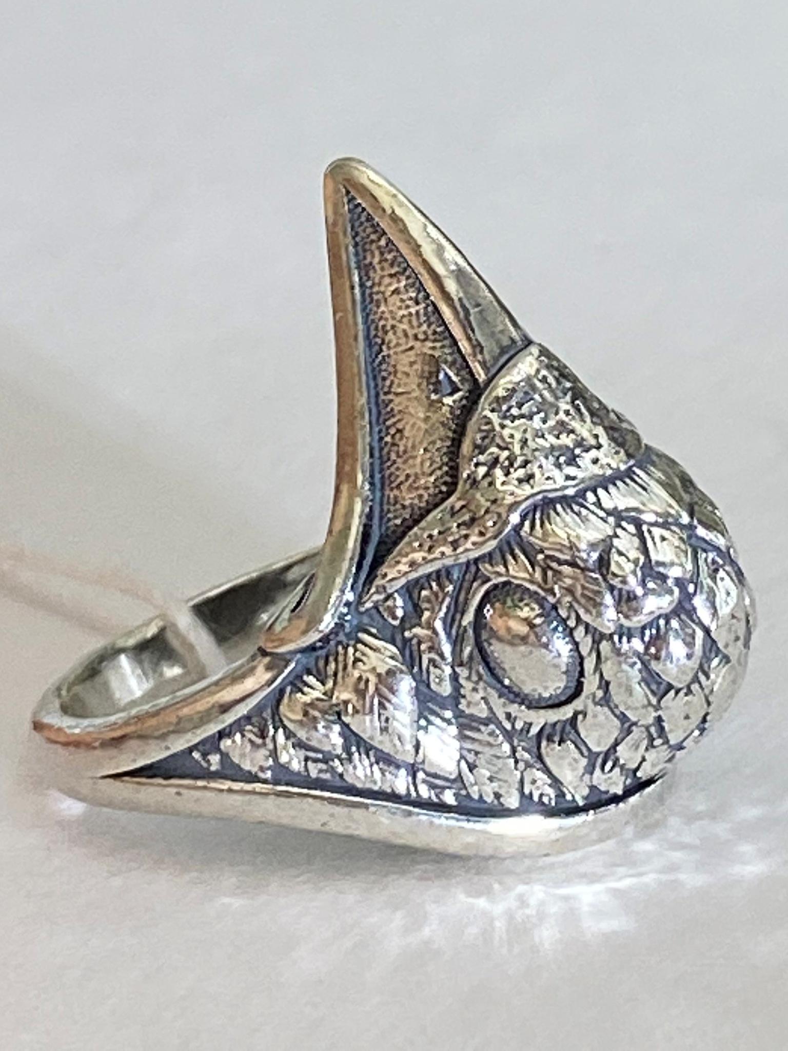 Ворон (серебряное кольцо)