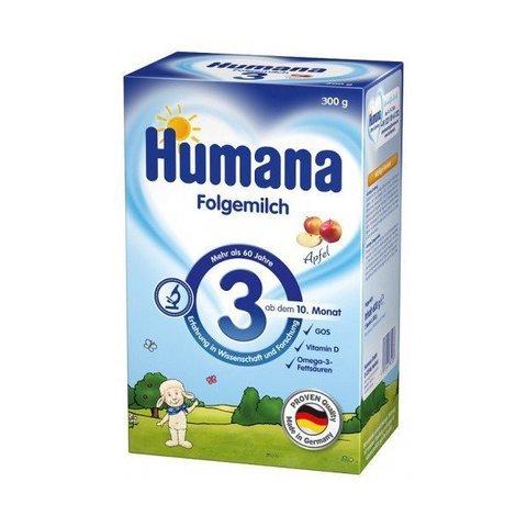 Смесь молочная с пребиотиками яблочным вкусом Humana 3, 300 г.