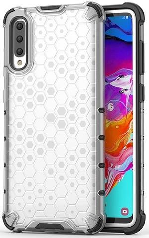 Чехол для Samsung Galaxy A70 ударопрочный в прозрачном корпусе от Caseport, серия Honey