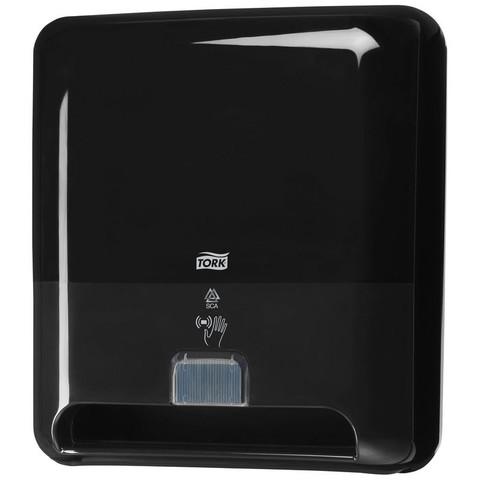 Диспенсер для рулонных полотенец Tork Matic H1 Intuition сенсорный пластиковый черный (код производителя 551108)