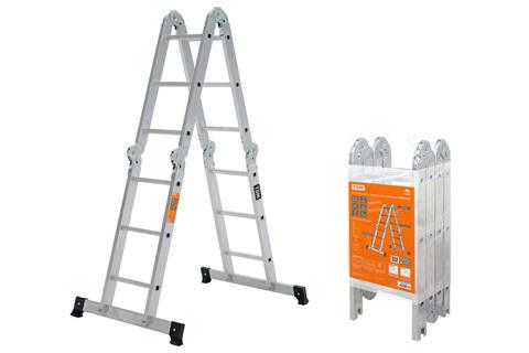Лестница-трансформер алюминиевая ЛТА4х3, 4 секции по 3 ступени, h=330/160/92 см, 10,4 кг TDM