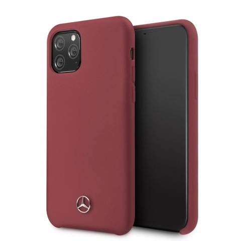 Mercedes / чехол для iPhone 11 Pro | Silicone line Hard Red