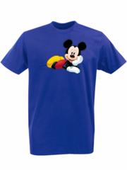 Футболка с принтом Микки Маус (Mickey Mouse) синяя 0012