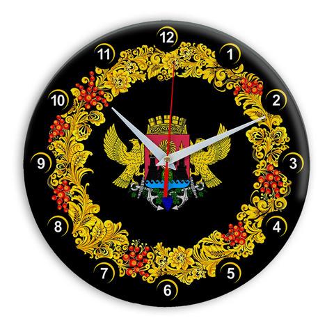 Часы в стиле Хохлома сувенирные Махачкала 03