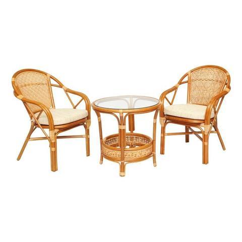 Комплект кофейный ELLENA-2 (кофейный стол + 2 кресла)