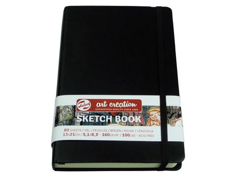 Скетчбук для смешанных техник Art Creation 160г/кв.м А5 80л твердая обложка черный