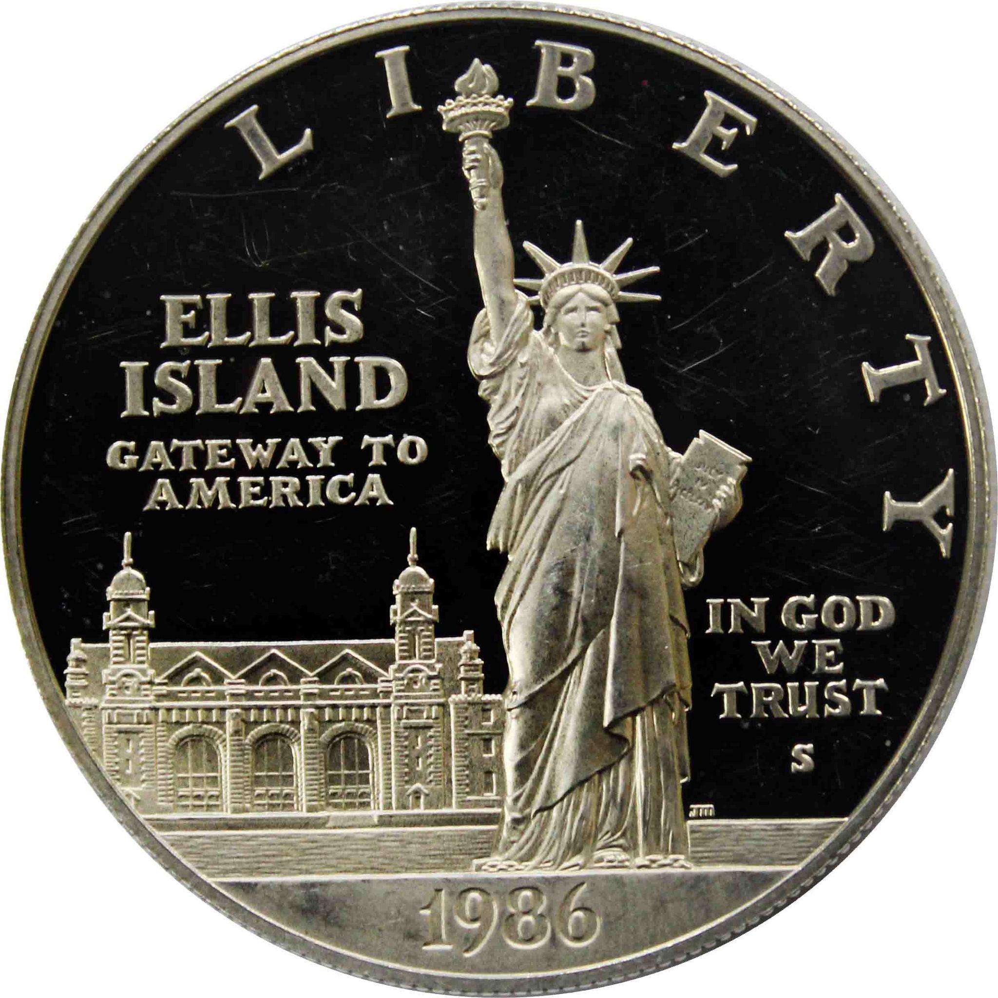 1 доллар США 1986 год S