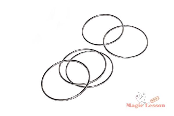 Магические соединяющиеся кольца серебристые