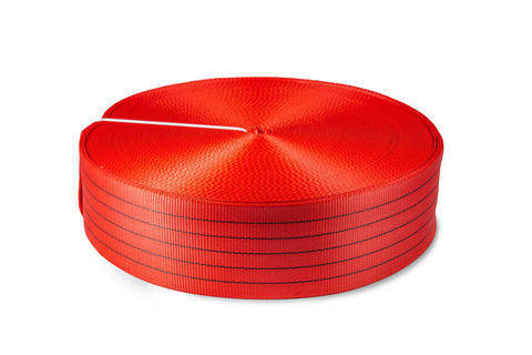 Лента текстильная TOR 6:1 125 мм 17500 кг (красный), 100м