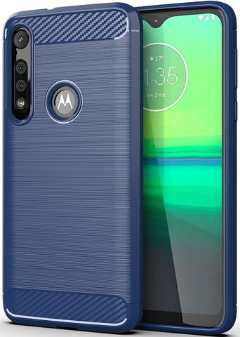 Чехол Motorola Moto G8 Play (One Macro) цвет Blue (синий), серия Carbon, Caseport