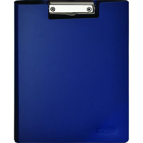 Папка-планшет Attache A4 пластиковая синяя с крышкой