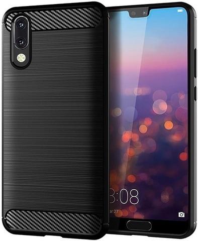 Чехол Carbon для Huawei P20 серия Карбон | черный