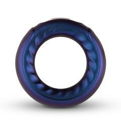 Фиолетовое эрекционное виброкольцо Saturn Vibrating Cock/Ball Ring -