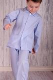 Голубая детская пижама в полоску BoboSette