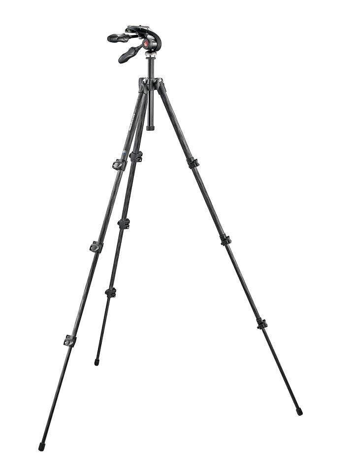 Штатив Manfrotto MK293C4-D3Q2 и 3D головка для фотокамеры