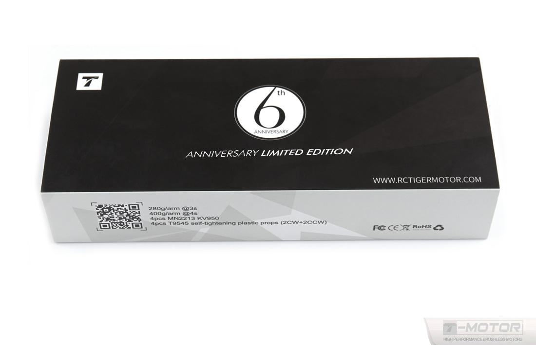 Комплект 6th Anniversary T-Motor (x4 MN2213 KV950 + x4 9.5x4,5)
