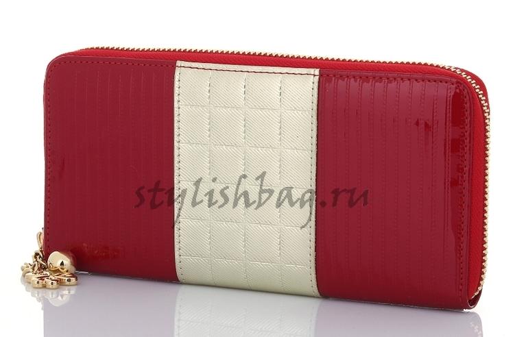 Женский кошелек на молнии Sonia Rykiel 550 red в интернет магазине Stylishbag
