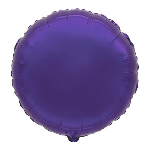 Шар-круг Фиолетовый, 45 см