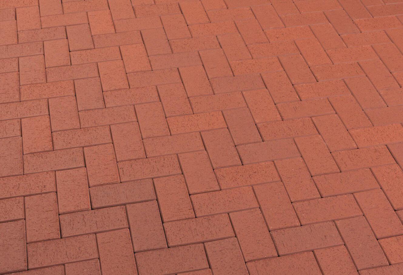 Feldhaus Klinker - P402SKF, Gala plano, красный с оттенками, 200x100x40 - Клинкерная тротуарная брусчатка