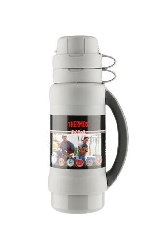 Термос Thermos 34 серия (1 литр) стеклянная колба, белый