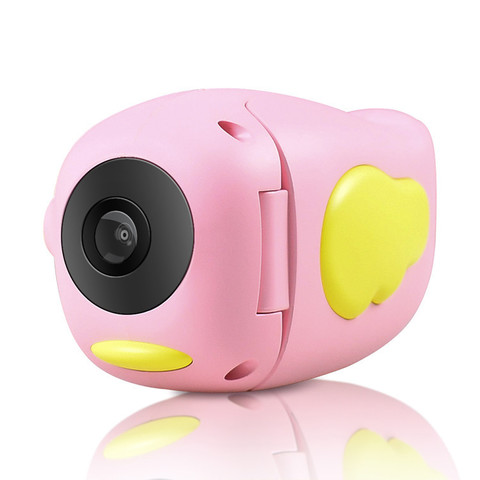 Детская цифровая фото-видеокамера фотоаппарат Kids Camera, розовая