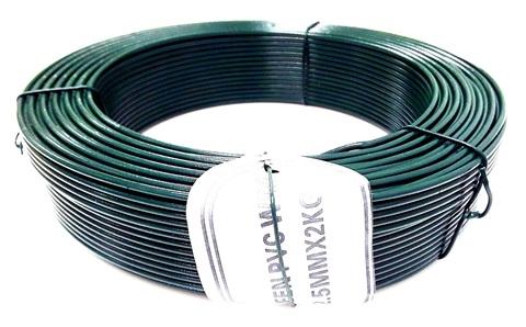 Проволока оцинкованная ПВХ зеленая в 2,0 мм