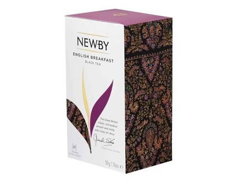 Чай черный в пакетиках Newby English breakfast, 25 пак/уп